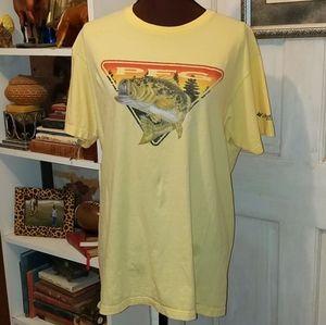 Columbia Sportswear Co Yellow Cotton PFG TShirt
